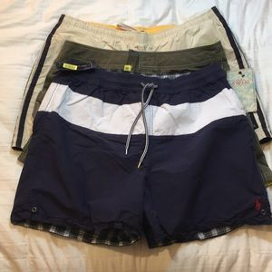 Other - Pack of 3 men's swim shorts mixed brand.